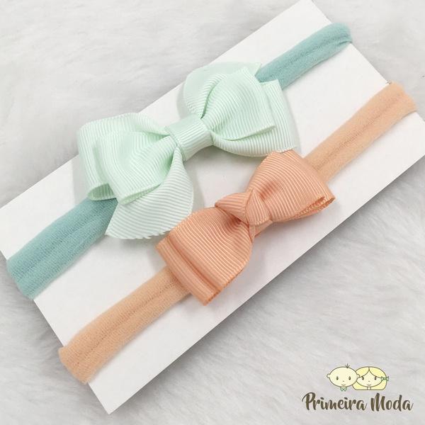 Kit Faixa para bebê Duplo Entrelaçado Verde
