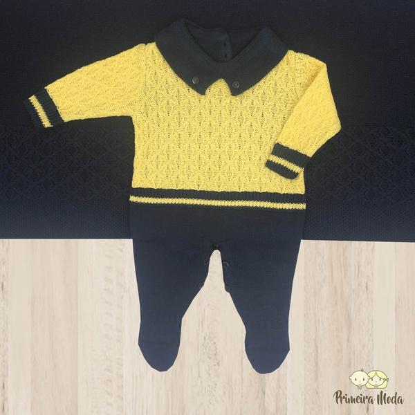 Saída De Maternidade Ravi Azul e Amarelo
