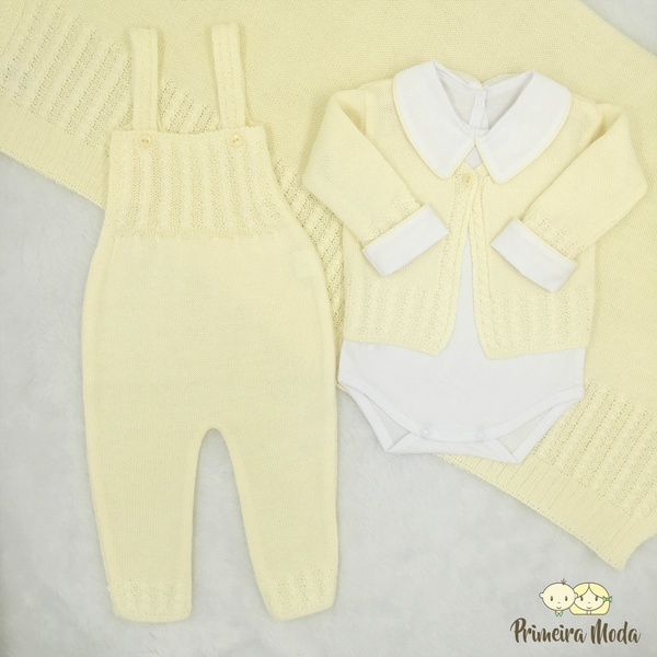 Saída De Maternidade Duda Amarelo