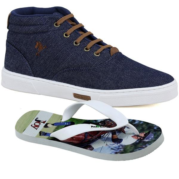 Bota Sapatênis Polo Joy Com Chinelo Jeans