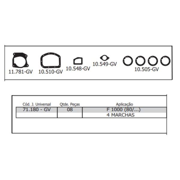71180GV JUNTA CAMBIO FORD/GM F-1000 / D-10