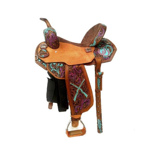 Sela de Couro Tambor - 35 Forma Protec Horse