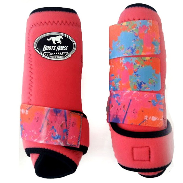 Boleteira Traseira Boots Horse - Rosa / velcro estampa 11