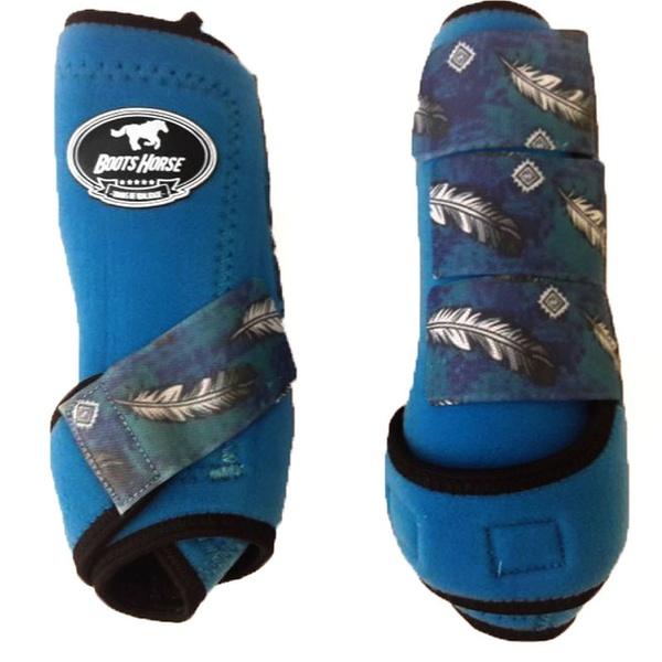 Boleteira Traseira Boots Horse - Azul Royal / velcro estampa 13