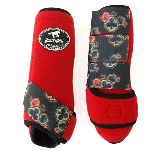 Boleteira Traseira Boots Horse - Vermelho / velcro estampa 14