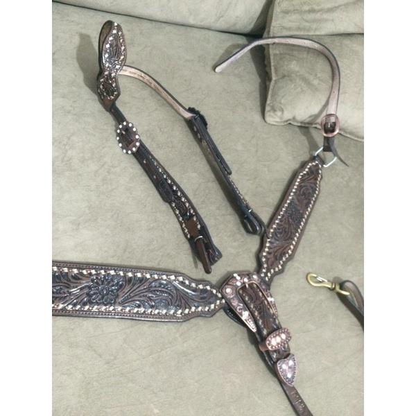 Conjunto Cabecada e Peiteira - Master Saddles 11