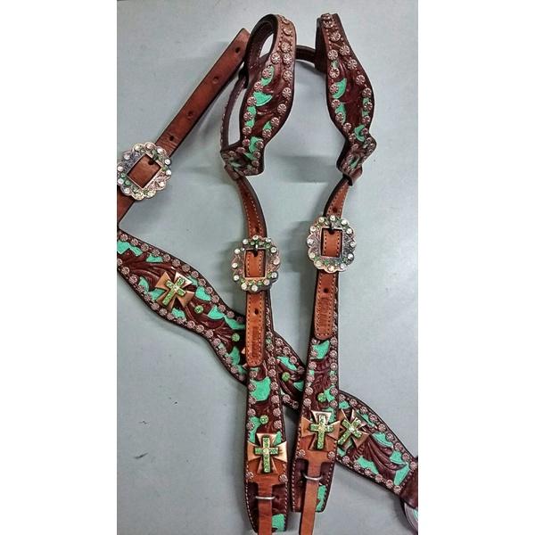 Conjunto Cabecada e Peiteira - Master Saddles 12