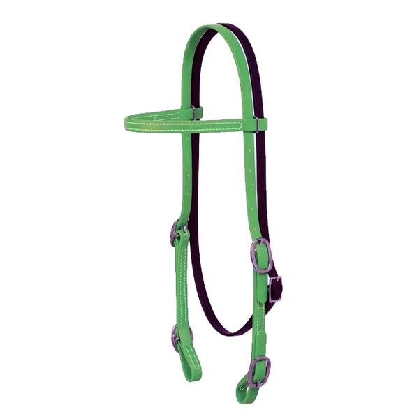 Cabecada Testa de Silicone Weaver - Verde