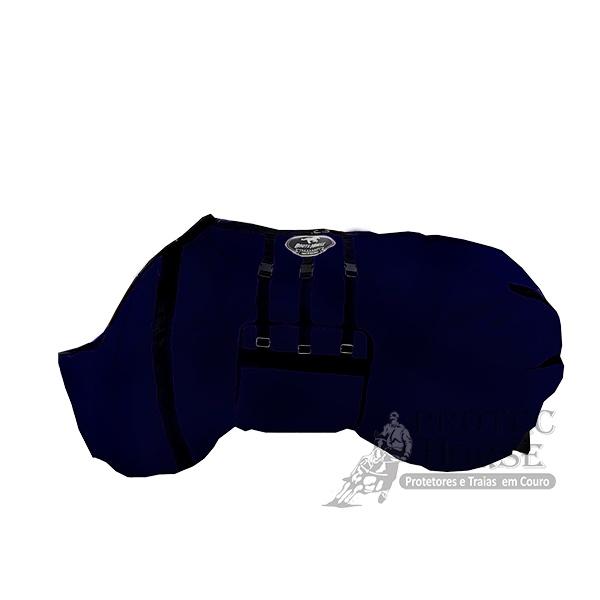 Capa de Frio Boots Horse Forrada com Barrigueira - 02 Azul Marinho