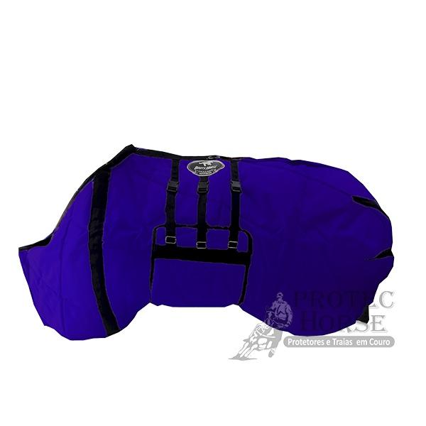 Capa de Frio Boots Horse Forrada com Barrigueira - 03 Azul Royal