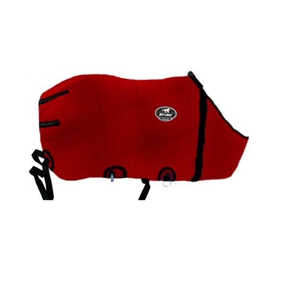 Capa de Frio Boots Horse Forrada Simples - 05 Vermelha