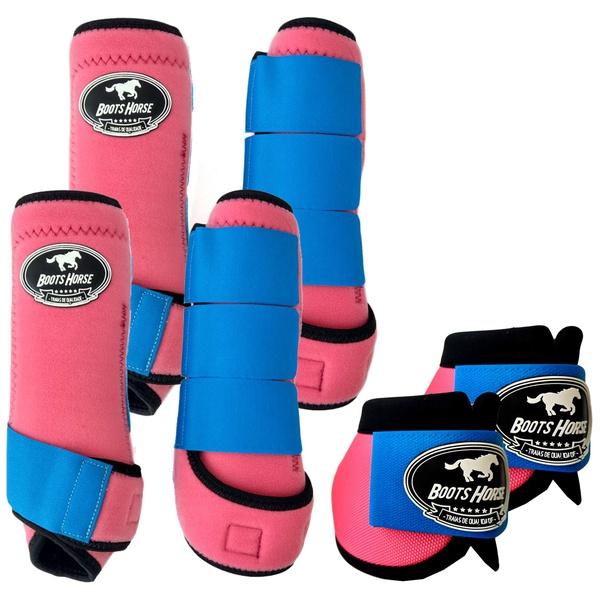 Kit Completo Boots Horse Color Cloche e Boleteira Dianteira e Traseira - Colorido 04