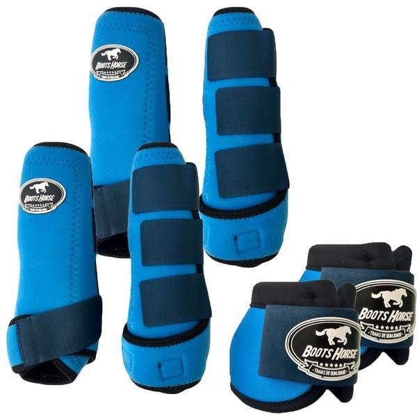 Kit Completo Boots Horse Color Cloche e Boleteira Dianteira e Traseira - Colorido 03