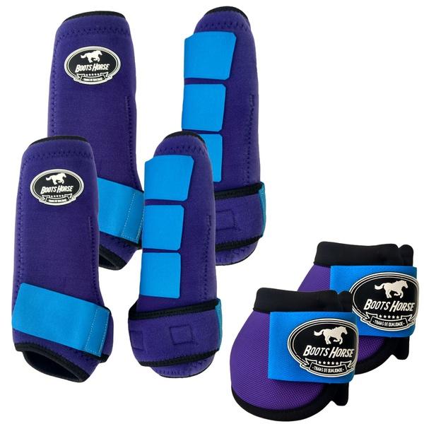 Kit Completo Boots Horse Color Cloche e Boleteira Dianteira e Traseira - Colorido 02