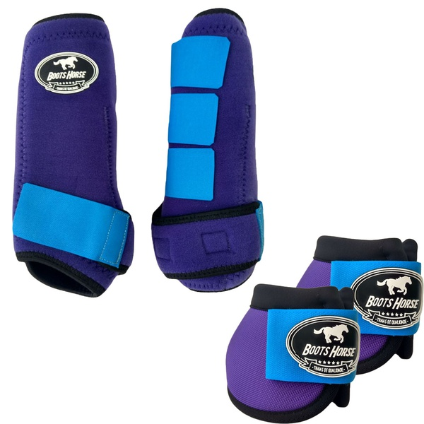 Kit Simples Color Boots Horse Cloche e Boleteira - Colorido 02