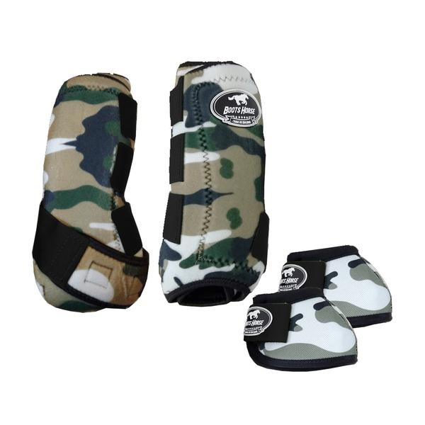 Kit Simples Color Boots Horse Cloche e Boleteira - Estampa 33 / velcro preto