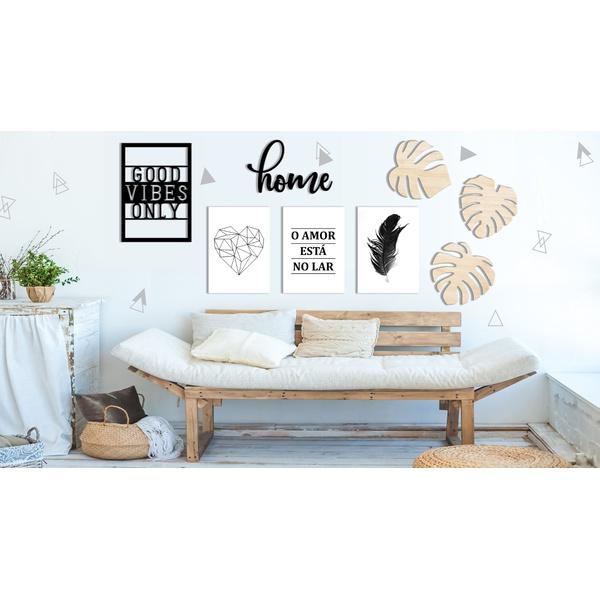 Kit Decoração Home + Presente (Palavra de Parede Gratidão)