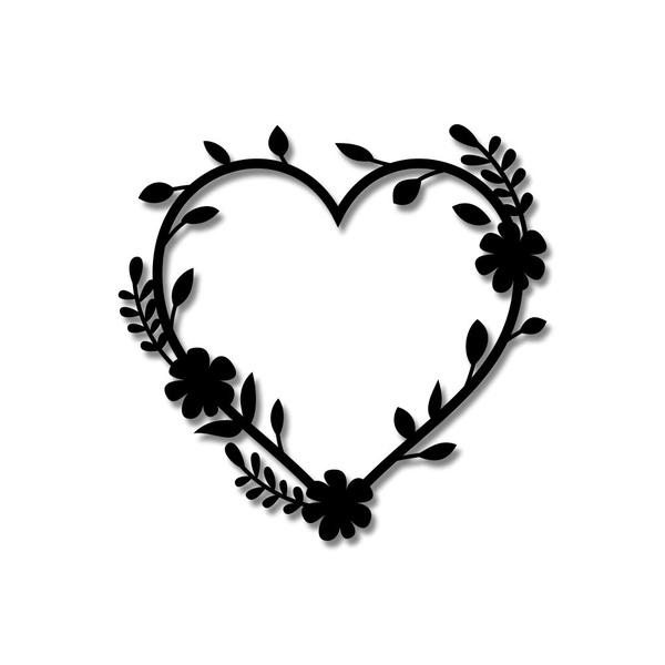 Escultura de Parede Coração Ramos