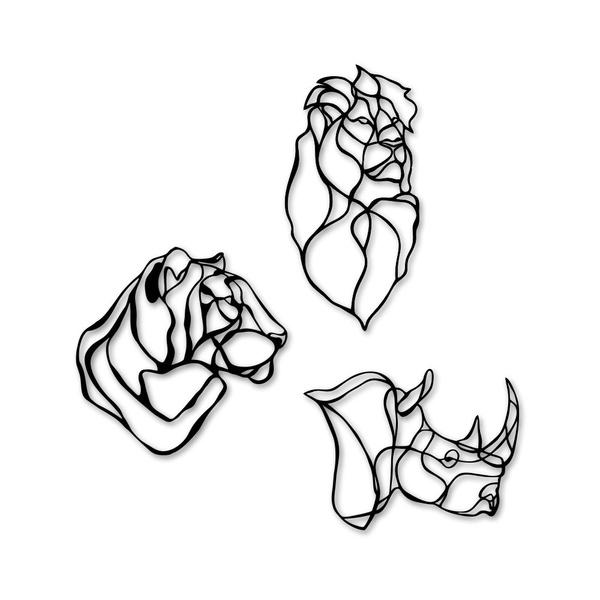 Kit Esculturas de Parede Animais Minimalistas