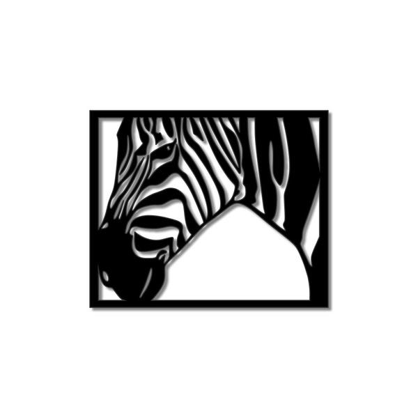 Escultura de Parede Zebra