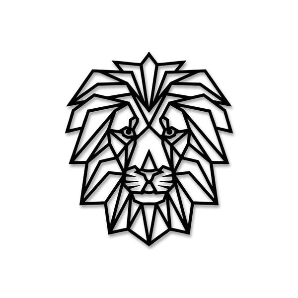 Escultura de Parede Leão Geométrico
