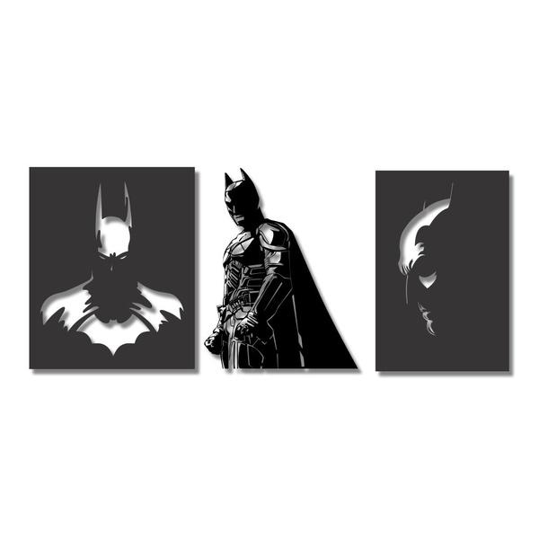 Kit Esculturas de Parede Batman