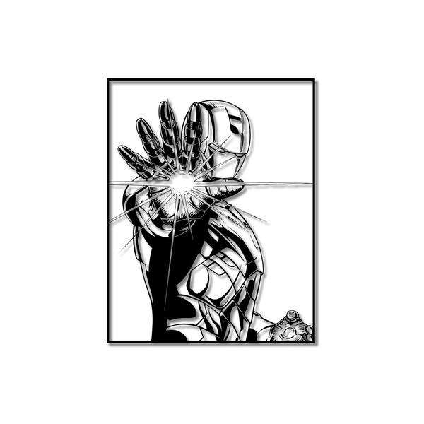 Escultura de Parede Homem de Ferro