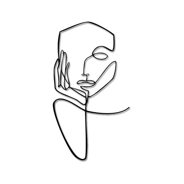 Escultura de Parede Silhueta Mulher