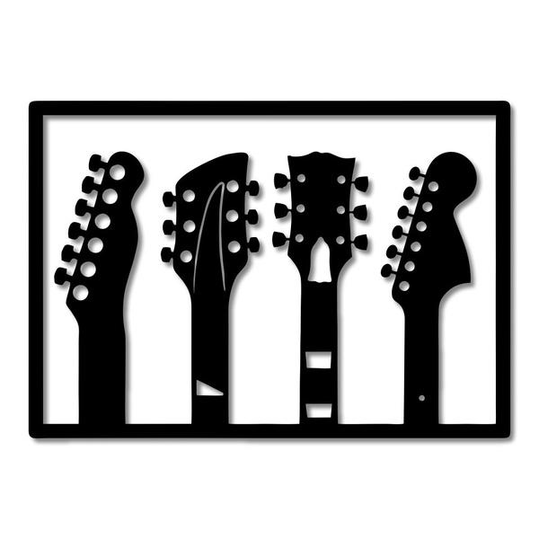 Escultura de Parede Quadro Instrumentos