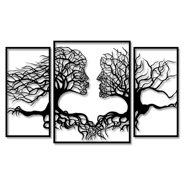 Kit Esculturas de Parede Casal Árvores