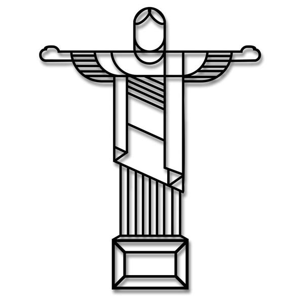 Escultura de Parede Cristo Redentor
