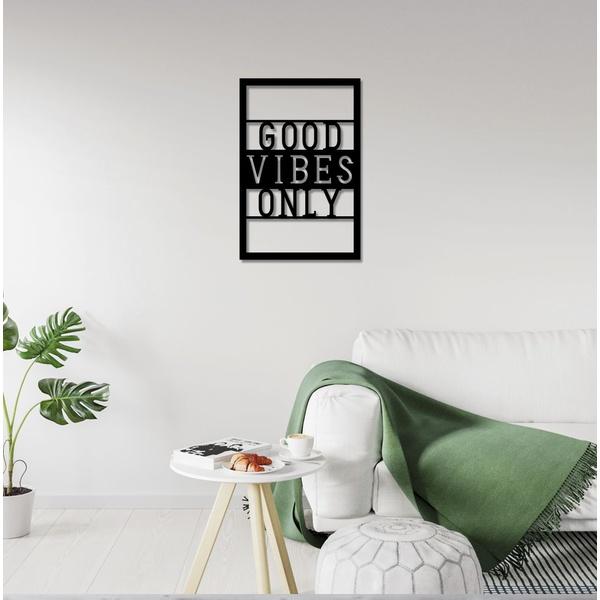 Escultura de Parede Good Vibes Only