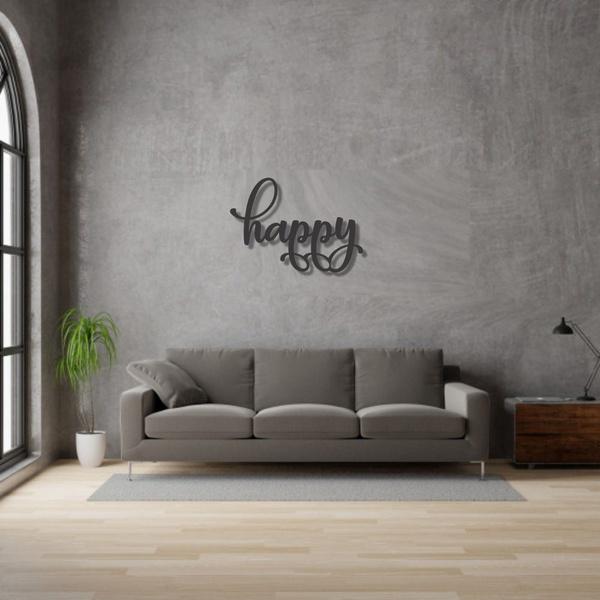 Palavra de Parede Happy