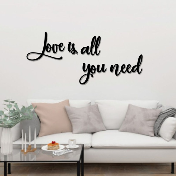 Kit Palavras de Parede Love Is All You Need