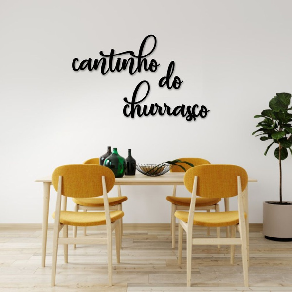 Kit Palavras de Parede Cantinho do Churrasco