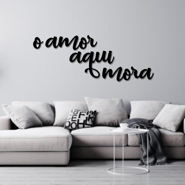 Kit Palavras de Parede O Amor Mora Aqui