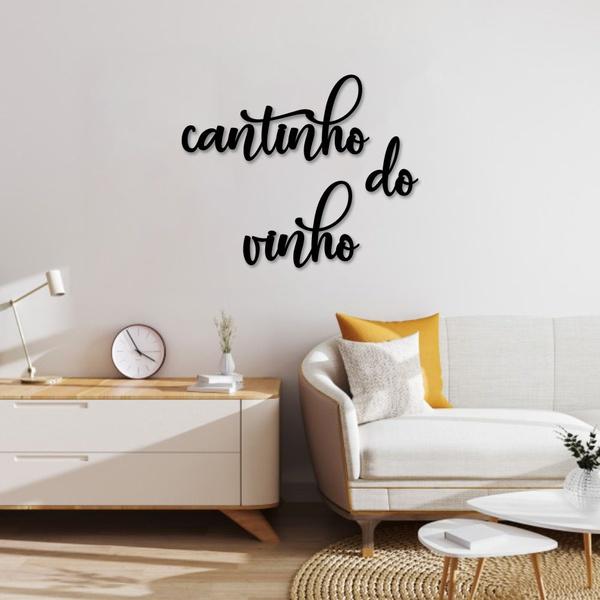 Kit Palavras de Parede Cantinho do Vinho