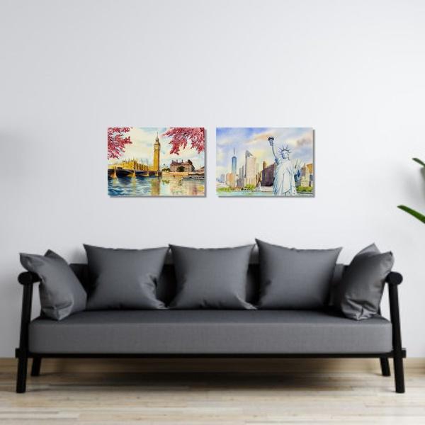 Kit Quadros Decorativos NY Londres