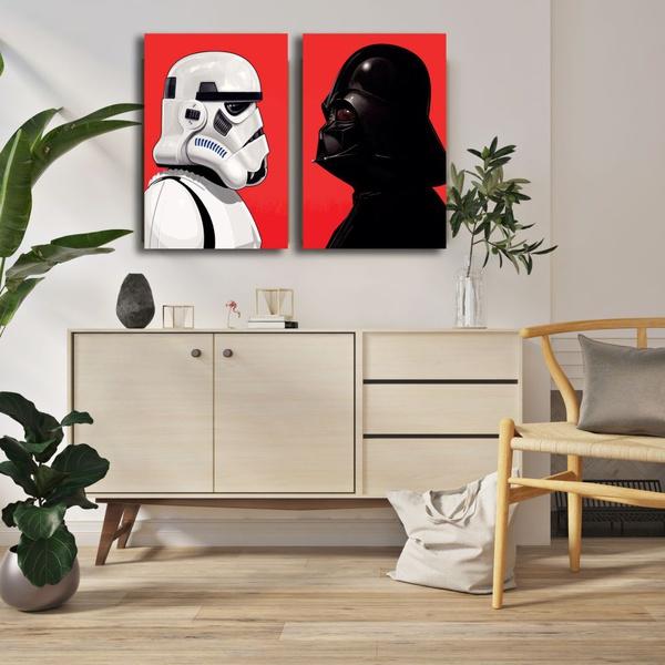 Kit 2 Placas Decorativas Star Wars