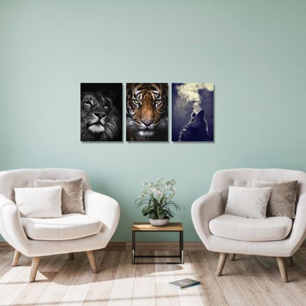 Kit Quadros Decorativos Animais