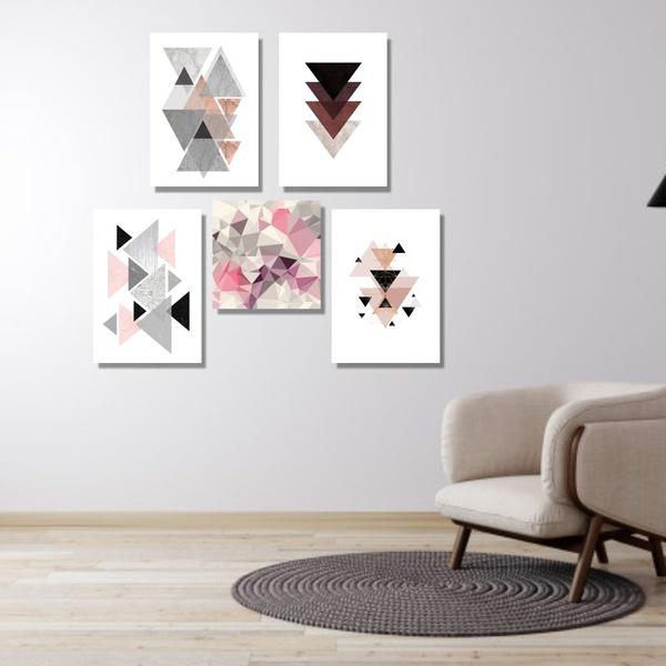 Kit Quadros Decorativos Geométricos