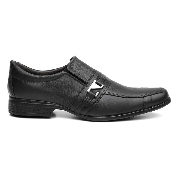 Sapato Social Masculino Fivela Em Couro Preto - Style