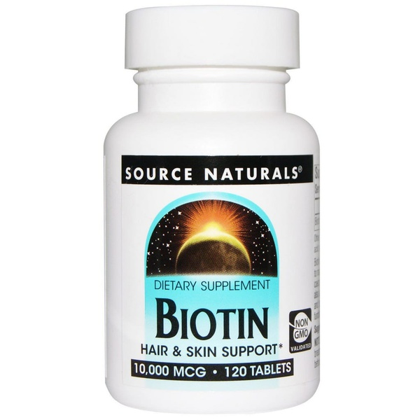 Biotin - Source Naturals - 10.000 mcg - 120 Tablets
