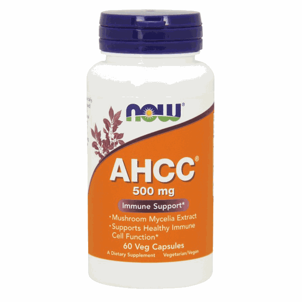 AHCC - Now Foods - 500 mg - 60 Veg Capsules