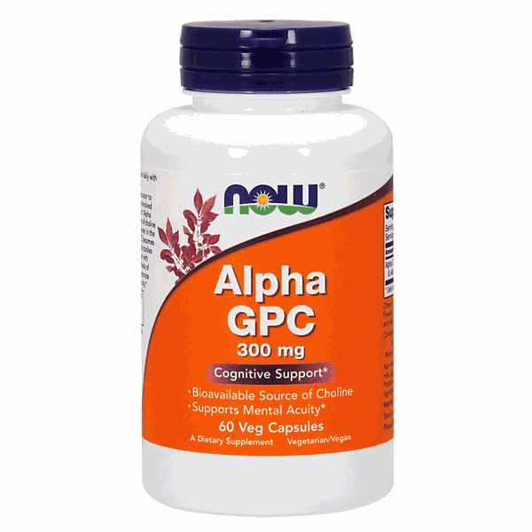 Alpha GPC - Now Foods - 300 mg - 60 Veg Capsulas