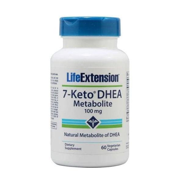 7- KETO DHEA - Life Extension - 100 mg - 60 Capsulas