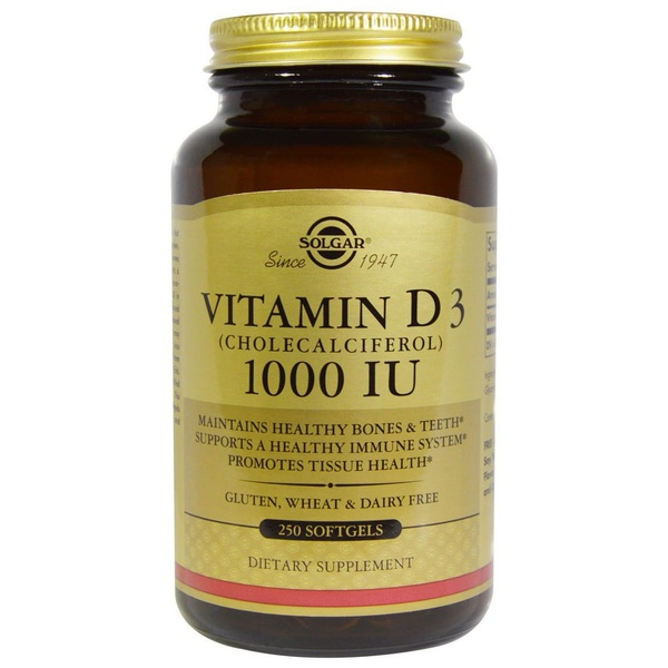 Vitamina D3 - Solgar - 1.000 IU - 250 Softgels