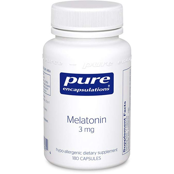 Melatonina, Pure Encapsulations, 3 mg, 180 Capsules