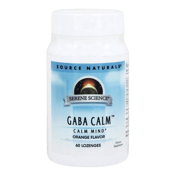 GABA Calm Sublingual, Sabor Laranja, Source Naturals, 125mg, 60 comprimidos