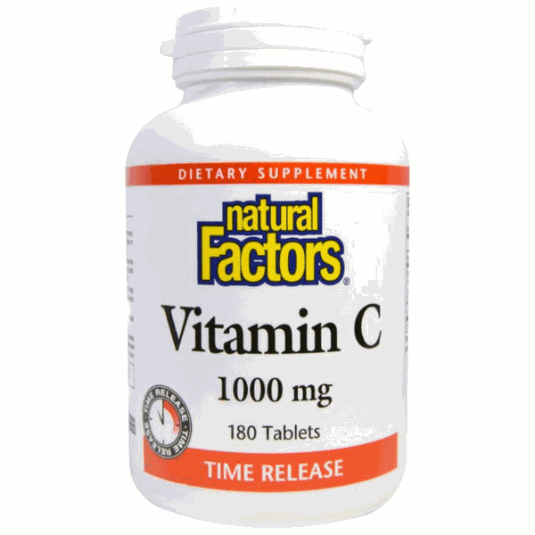 Vitamina C Citrus Bioflavonoids - Time Release - Natural Factors - 1000 mg - 180 Tablets